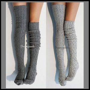 Peony & Moss Thigh High Boot Socks Over The Knee